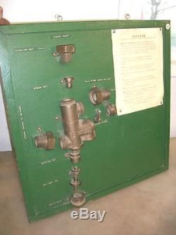 1 PENBERTHY STEAM INJECTOR ON DISPLAY BOARD Old Steam Traction Engine Brass