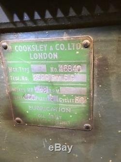 A. Cooksley and Co Wood Work Shop Lathe Motor Size ALK2 52 x 62 x 19