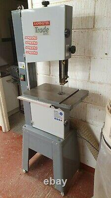 AXMINSTER (Trade Series) SBW3501B bandsaw + fence and 2 brand new blades