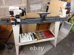 Axminster AWVSL900 Variable Speed Woodturning Lathe with Stand, Chuck and Tools