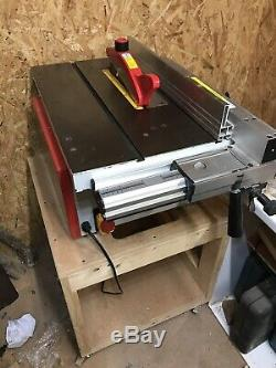 Axminster TS-250-M Table Saw With Stand and Accessories