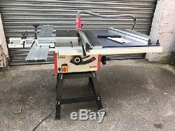 Axminster TS 250M Table Saw 240v with extension and sliding table kit