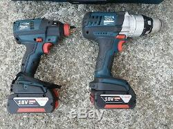 Bosch GSB 18 VE-2 drill GDX 18V-EC Impact Driver/Wrench, 4.0Ah Batteries Charger
