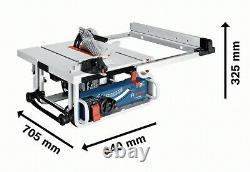 Bosch Professional Table Saw GTS10J 240V 1800W with Stand GTA 600 + extra blade