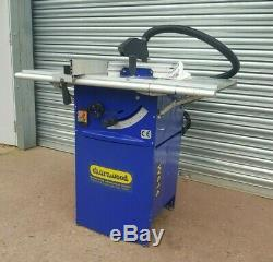 Charnwood W614 10'' Table Saw With Side Tables, Manual & Dust Extraction