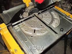 DEWALT DW742 Type 4 110v Flip over saw table mitre with legs guard fence