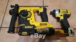 DeWalt 18v DCH253 SDS Rotary Hammer Drill &DCF885 Impact Driver