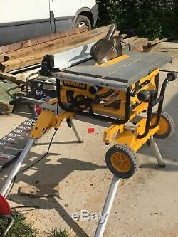Dewalt chop bench saw on legs
