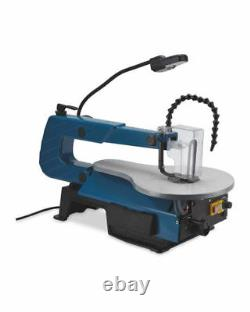 Electric 120W Scroll Saw With Air blower & LED work light Certified UK Plug