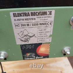 Elektra Beckum HC260M planer thicknesser. 2.2kW motor with new outfeed roller