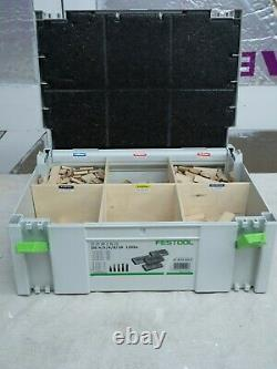 Festool Domino DF500Q 240v with systainer assortment DS 4/5/6/8/10