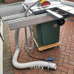 Kity 1619 Table Saw inc sliding carriage, extension tables, in great condition
