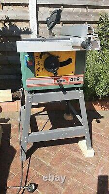 Kity 419 Table Saw on stand with 2no spare blades & operating instructions