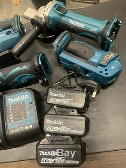 Makita 18v Set Planer Multi Tool Jigsaw Angle Drill Sds Grinder Torch Lxt #87