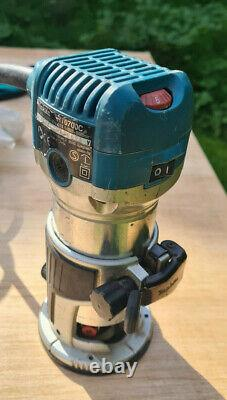 Makita RT0700CX2 1/4 Router / Trimmer 240v withBases USED