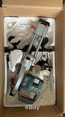 Metabo KGS18LTX 216 18v Sliding Mitre Saw + 18v 8ah Battery And Charger