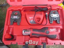 Milwaukee 2473-20 M12 12V FORCE LOGIC Press Tool Kit w 2 Jaws in Case
