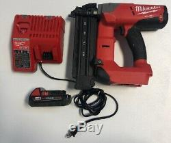 Milwaukee 2740-20 M18 18 Volt Fuel 18ga Brad NaIler / 2.0amp Battery / Charger