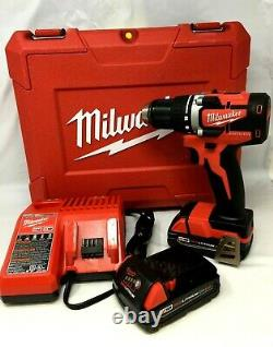 Milwaukee 2801-22ct M18 Brushless Cordless 1/2 Compact Drill/driver Kit Ln