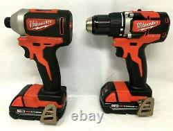 Milwaukee 2892-22CT M18 1/2 in. Drill Driver and 1/4 in. Impact Driver Kit, C638