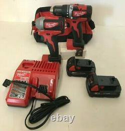 Milwaukee 2892-22CT M18 1/2 in. Drill Driver and 1/4 in. Impact Driver Kit, GR