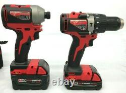 Milwaukee 2893-22CX M18 18-Volt 3-Speed Drill and Impact Driver Combo Kit LN