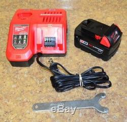 Milwaukee 4-1/2 / 5 Angle Grinder 2780-21 with Battery, Charger, & Wrench BIN FS