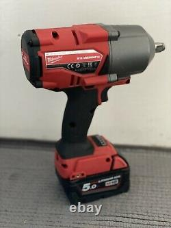 Milwaukee M18 18v 1/2in FUEL Impact Wrench 2x5Ah battery and charger