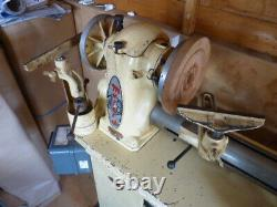 Myford ML8 woodturning lathe in good condition, with bandsaw & other parts