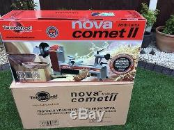 Nova Comet 2 Woodturning Lathe. In New Condition Little Used. With Nova Chuck