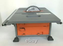 RIDGID R4518 Table Saw with Folding Stand SOFT Start Technology 15 Amp 10 In. GR