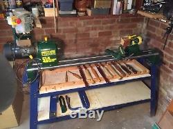 Record Power Lathe CL4 variable speed. Made in England. Spares and stand