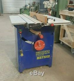 Record Power RSTS12 Table Saw, Bench Saw, Rip Saw, Machine Single Phase