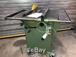 Startrite 275 Table, Panel Saw 240V, mobile base, extension bars, can palletise