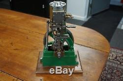 Stuart Number 1 Vertical Steam Engine with reverse