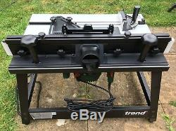 Trend CRT/MK3 CraftPro Router Table with Bosh POF 1200W 1/4 router