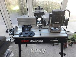 Trend PRT Professional Router Table 240v plus Trend T11E Router Good Condition