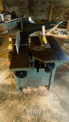 Universal Combination Woodworking Machine Saw Planer Thicknesser Spindle