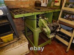 Used table saw 240v, Wood wise, 10.00 inch plus blades, bed size 1 Mtr x 0.700 M