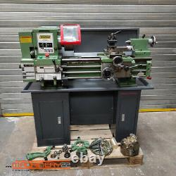 WARCO BH600G Gap Bed Lathe, 240V, single phase, with stand and accessories